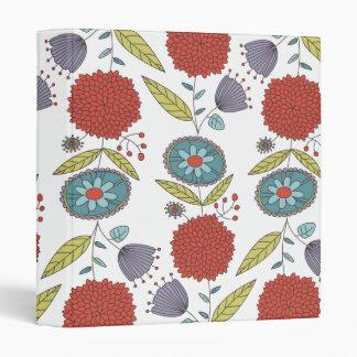 Carpeta de anillo banal floral tres