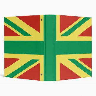 Carpeta de anillo BRITÁNICA de la bandera de Rasta