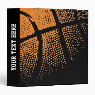 Carpeta de anillo de encargo del baloncesto para