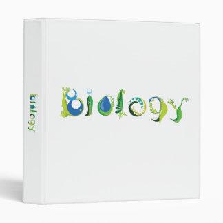 Carpeta de anillo de la ciencia de la biología