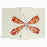 Carpeta de anillo de la mariposa tres en naranja