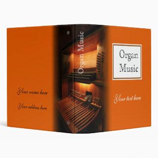 Carpeta de anillo de la música de órgano - Avery 1