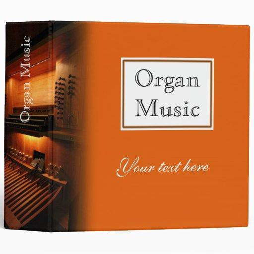 Carpeta de anillo de la música de órgano - firma