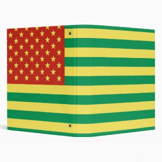 Carpeta de anillo de los E.E.U.U. de la bandera de