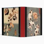 Carpeta de anillo del arte 3 del gato de Utagawa