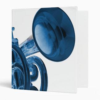 Carpeta de anillo del cuaderno 3 de la trompeta