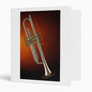 Carpeta de anillo del cuaderno tres de la trompeta