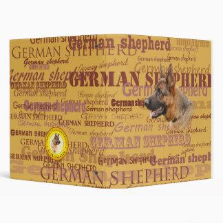 Carpeta de anillo del pastor alemán