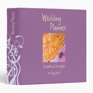 Carpeta de anillo floral rústica del planificador