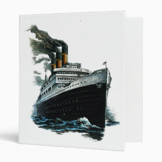Carpeta de anillo negra de la nave