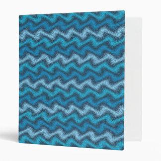 Carpeta de anillo ondulada del azul 3
