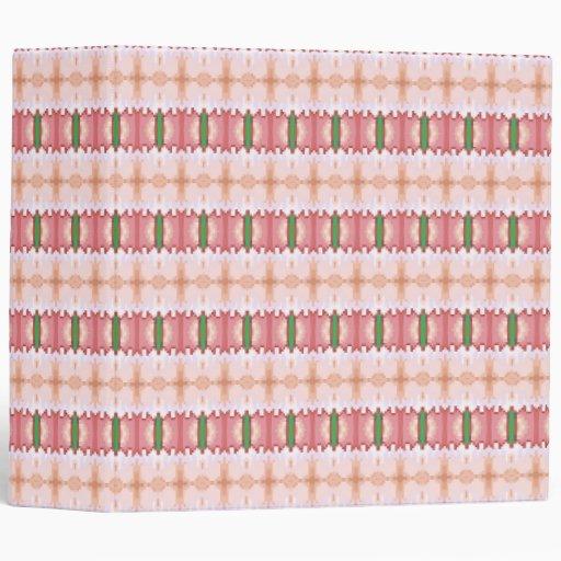Carpeta de anillo rayada rosada de encaje 3