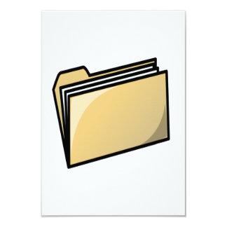 """Carpeta de archivos invitación 3.5"""" x 5"""""""