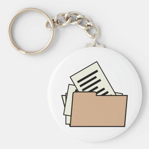 Carpeta de archivos llavero redondo tipo pin
