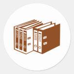 Carpeta de archivos pegatina redonda