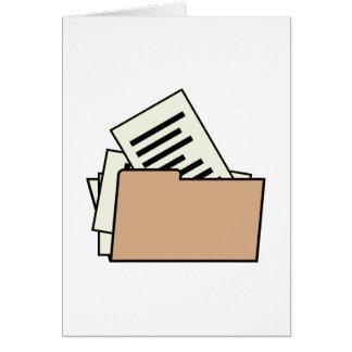 Carpeta de archivos tarjeta pequeña