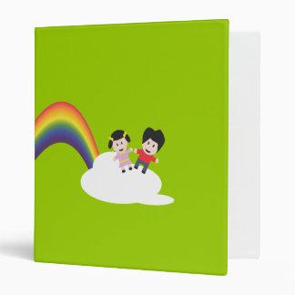 Carpeta de Avery de la amistad del arco iris y de