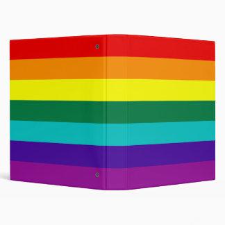 Carpeta de Avery de la bandera del orgullo gay del