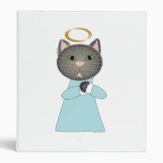 Carpeta de Avery de la carpeta del gato del ángel