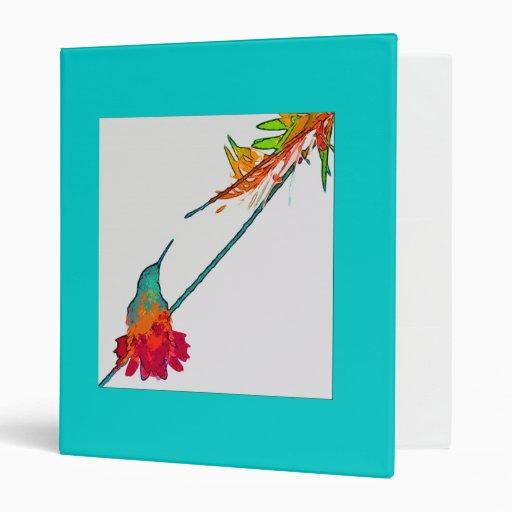 Carpeta de Avery de la flor del colibrí