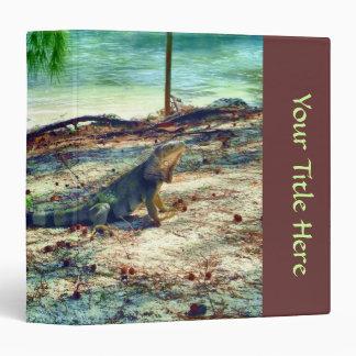 Carpeta de Avery de la iguana de Bahama