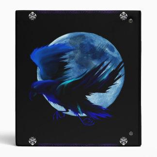 Carpeta de Avery de la luna del cuervo