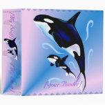 Carpeta de Avery de la mamá y del bebé de la orca