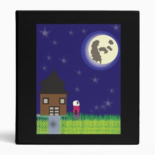 Carpeta de Avery de la panda de las buenas noches