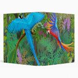 Carpeta de Avery de la selva del Macaw