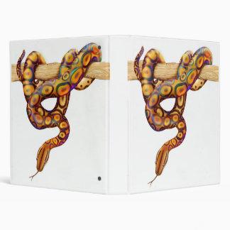 Carpeta de Avery de la serpiente de la boa del arc
