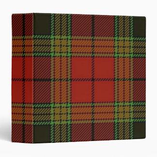 Carpeta de Avery de la tela escocesa de tartán