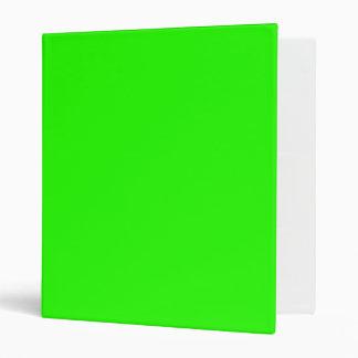 Carpeta de Avery de la verde lima
