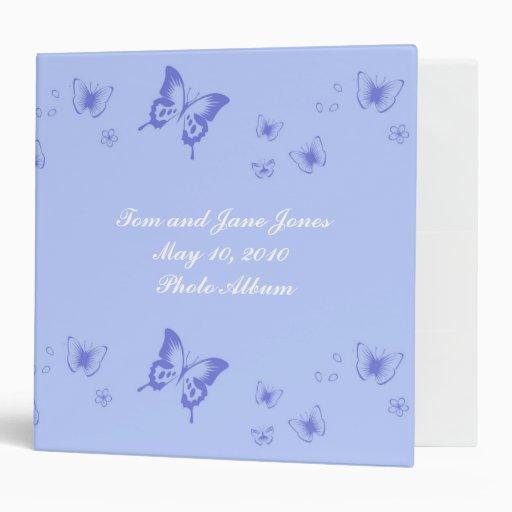 Carpeta de Avery de las flores de mariposa