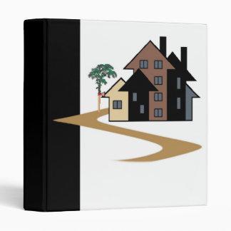 Carpeta de Avery de las propiedades inmobiliarias