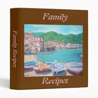 Carpeta de Avery de las recetas de la familia