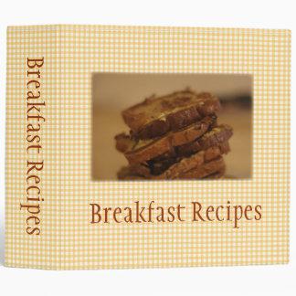 Carpeta de Avery de las recetas del desayuno de la