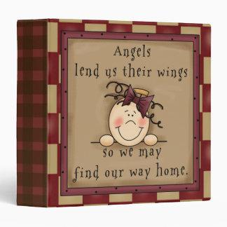 Carpeta de Avery de los ángeles