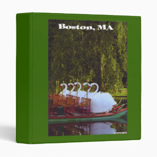 Carpeta de Avery de los barcos del cisne de Boston