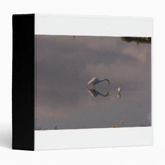 Carpeta de Avery de los Egrets de los humedales