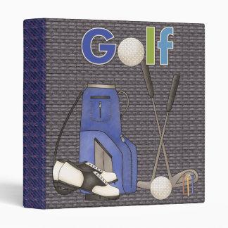 Carpeta de Avery de los golfistas
