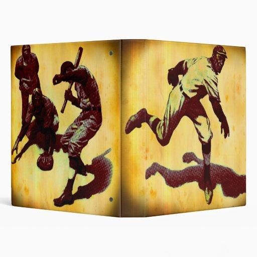 Carpeta de Avery de los jugadores de béisbol del v