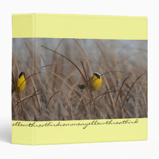 Carpeta de Avery de los pájaros del Yellowthroat d