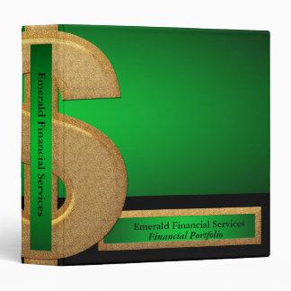 Carpeta de Avery de los servicios financieros del