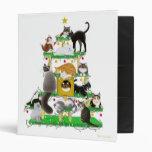 Carpeta de Avery del árbol del gato del navidad