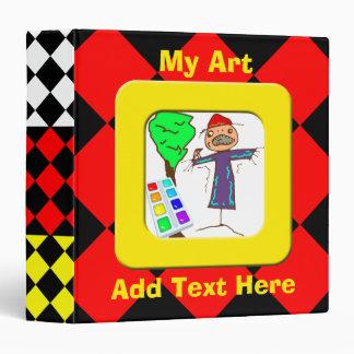 Carpeta de Avery del arte de los niños