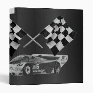 Carpeta de Avery del coche de carreras