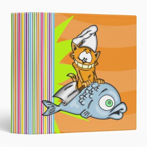 Carpeta de Avery del cocinero y de los pescados de