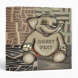 Carpeta de Avery del elefante del bebé