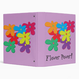 Carpeta de Avery del flower power