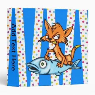 Carpeta de Avery del gatito y de los pescados del